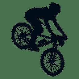 Mann mit dem Fahrrad Silhouette