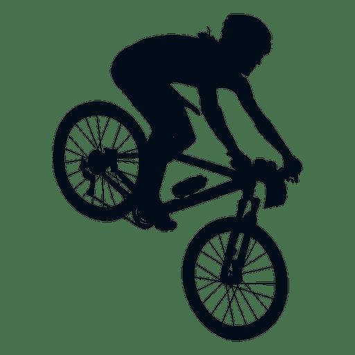 Man biking silhouette