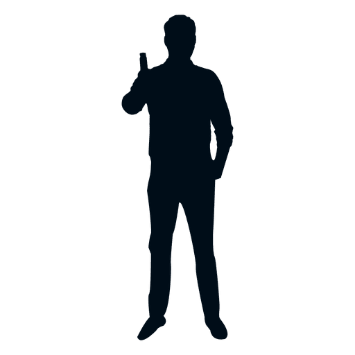 Man cheers silhouette Transparent PNG