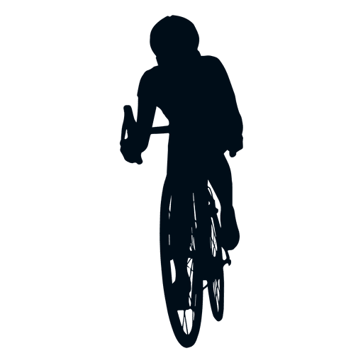 Man cycling silhouette