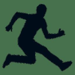 Hombre saltando silueta salto silueta
