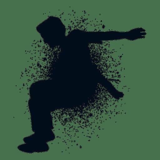 Hombre saltando salpicadura pintura silueta Transparent PNG