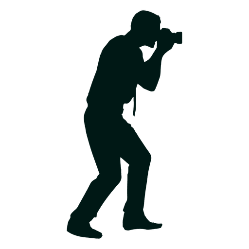 Man photographer shooting silhouette Transparent PNG