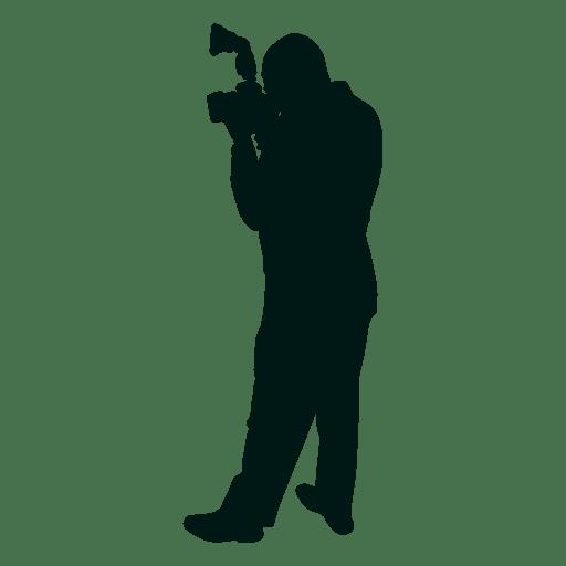 Fot?grafo de hombre tomando silueta de imagen
