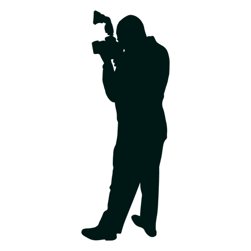 Man photographer taking picture silhouette Transparent PNG
