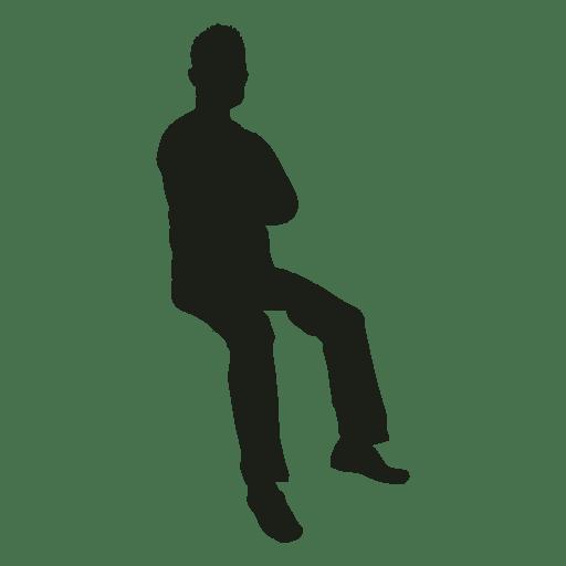Man Sentado M 227 Os Cruzou Silhueta Baixar Png Svg Transparente