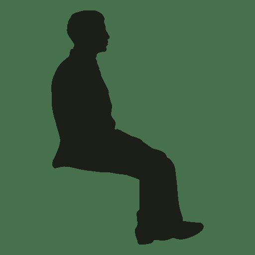 Hombre sentado silueta Transparent PNG