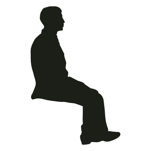 Man sitting silhouette Transparent PNG
