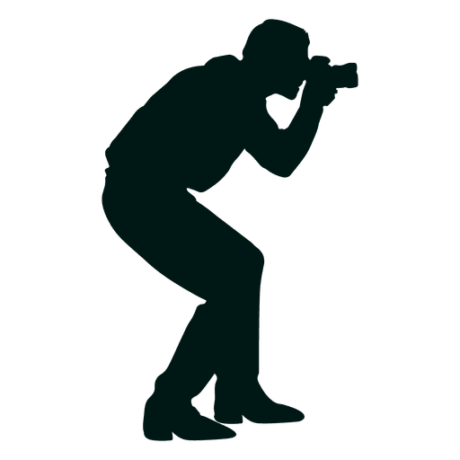 Hombre tomando foto silueta