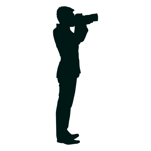 Man taking picture silhouette Transparent PNG
