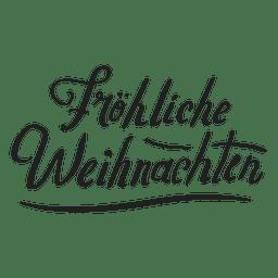 Insignia de la feliz navidad en aleman