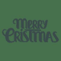 Letra elegante do Feliz Natal