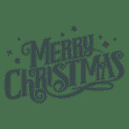 Groovy Beschriftung der frohen Weihnachten