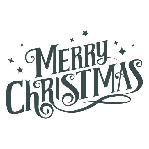Merry christmas groovy lettering Transparent PNG