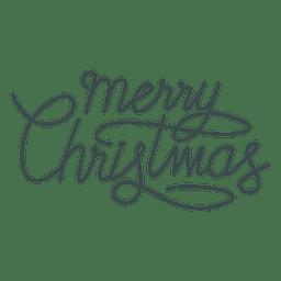 Feliz Navidad a mano letras