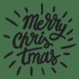 Feliz natal, lettering, emblema