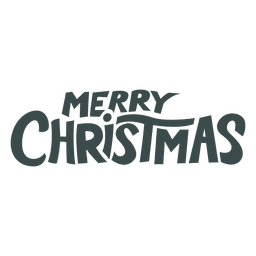 Merry christmas lettering badge christmas