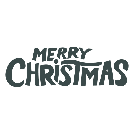 Merry christmas lettering badge christmas - Transparent PNG & SVG vector