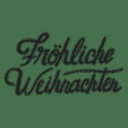 Letras de Natal feliz em alemão
