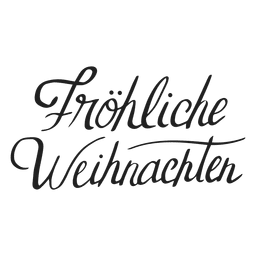 Merry christmas lettering in german