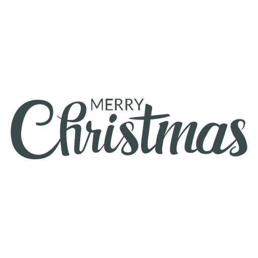 Merry christmas nice lettering Transparent PNG