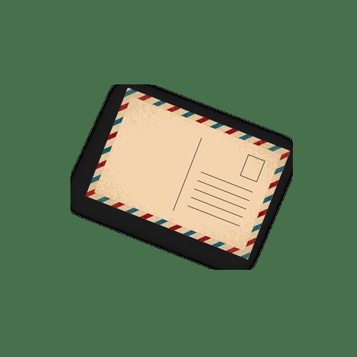 Postal de correo aéreo antiguo