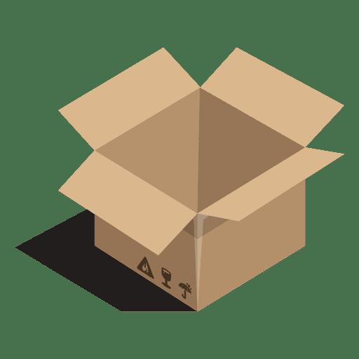 Caixa aberta com sinais de pacote Transparent PNG
