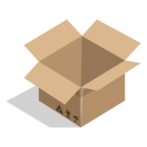 Open box with package signs Transparent PNG