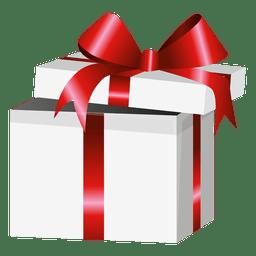 Caja de regalo de envoltura roja abierta