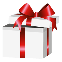 Open red wrap gift box