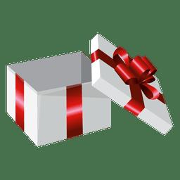 Caja de regalo envuelta abierta