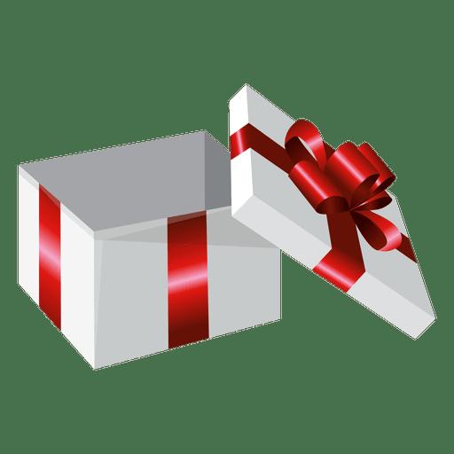 Caja de regalo envuelta abierta Transparent PNG