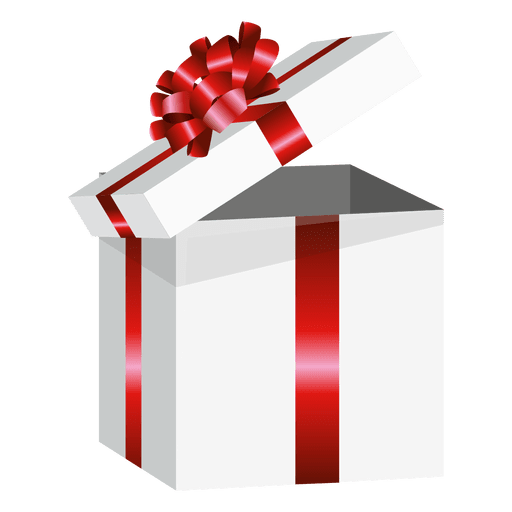 Open Wrapped Present Box Transparent Png Svg Vector