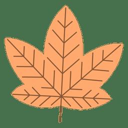 Folha de maple de outono de laranja