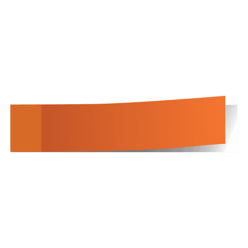 Orange post it page marker Transparent PNG