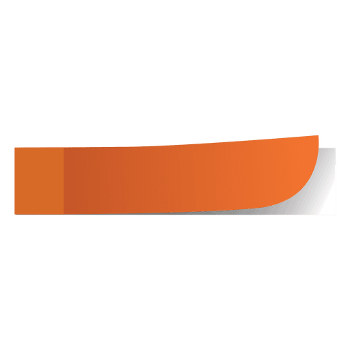 Orange sticky note page marker Transparent PNG