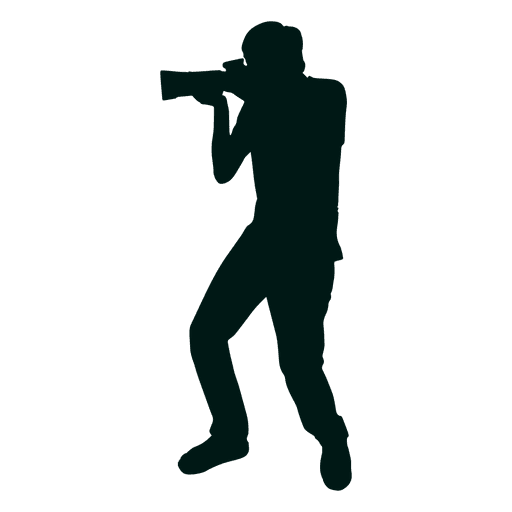 Photographer shooting silhouette Transparent PNG