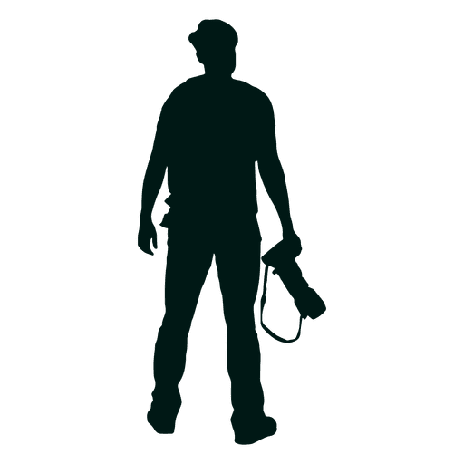 Photographer standing silhouette