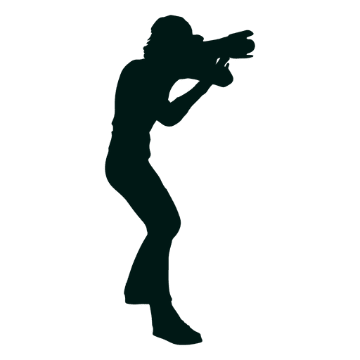 Photographer taking photo silhouette Transparent PNG