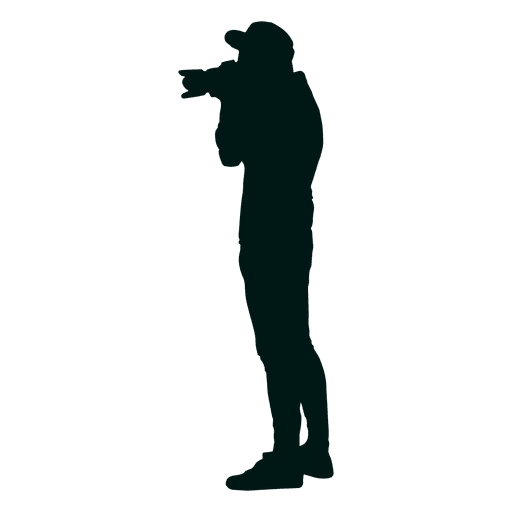 Photographer taking picture silhouette Transparent PNG