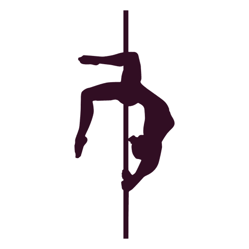 Pole dance brass bridge silhouette Transparent PNG