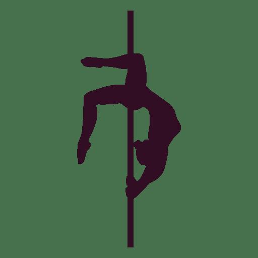 Silhueta de ponte de bronze de pole dance