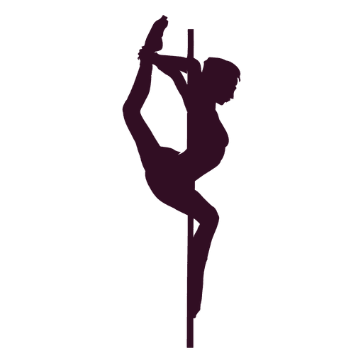 Pole dance music box silhouette Transparent PNG