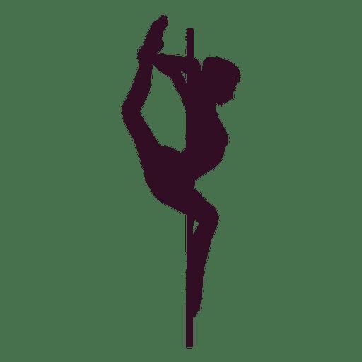 Pole dance music box silhouette