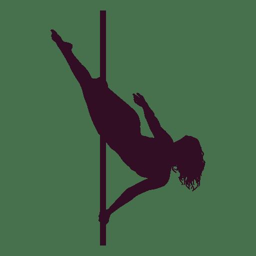 Pole dance side hook silhouette Transparent PNG