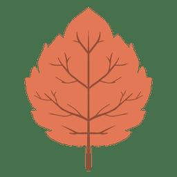 Ícone vermelho da folha do outono