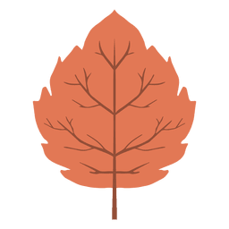 Red autumn leaf icon