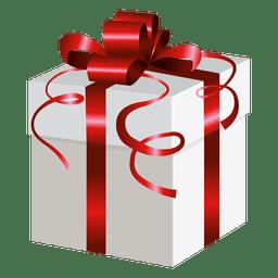 Caja de regalo de abrigo rojo