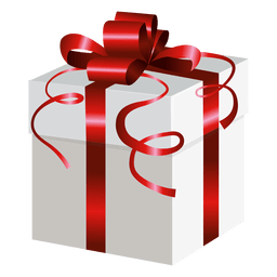 Red wrap gift box