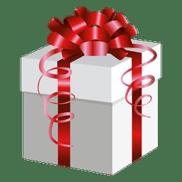Envoltura roja presente caja